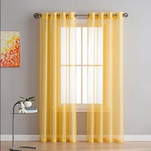4 window curtains